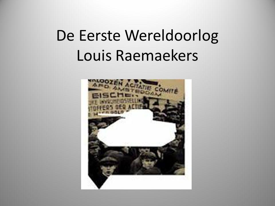 De Eerste Wereldoorlog Louis Raemaekers