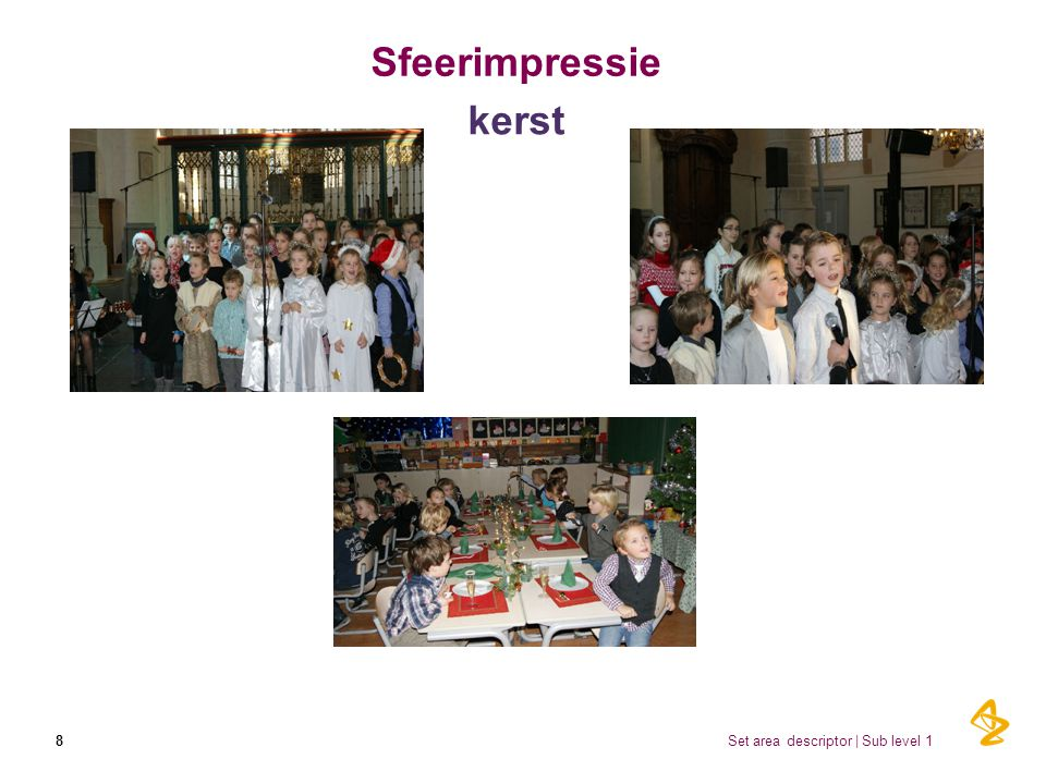 Sfeerimpressie kerst 8 Set area descriptor | Sub level 1