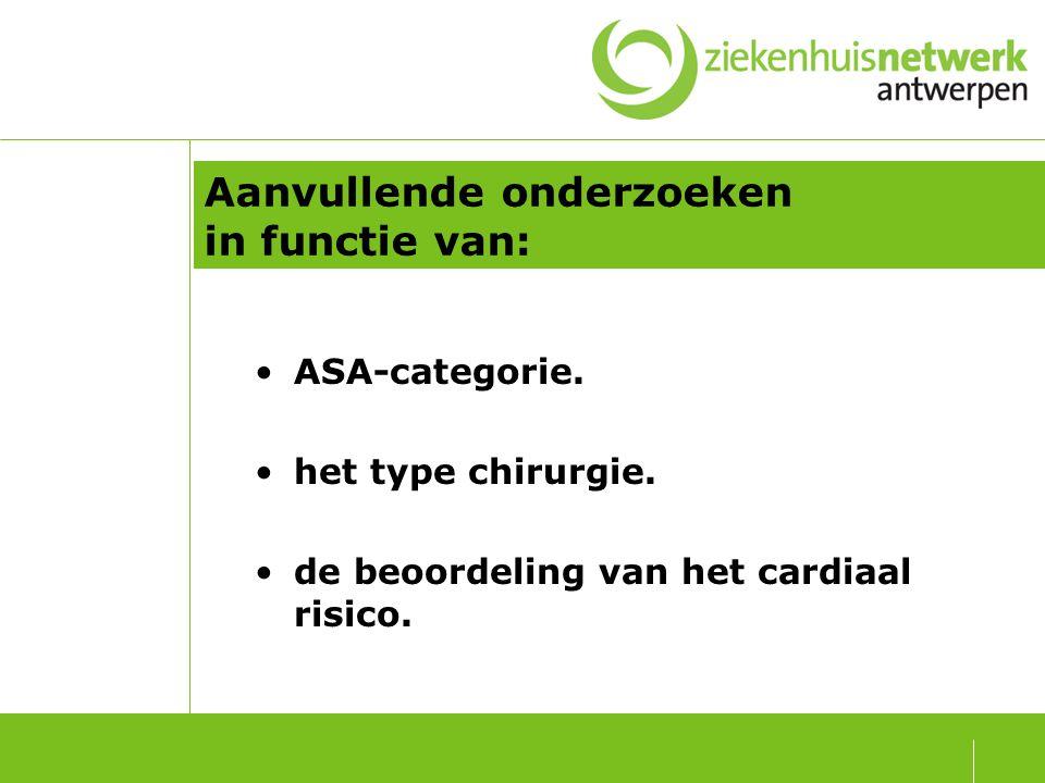 1) ASA categorie.