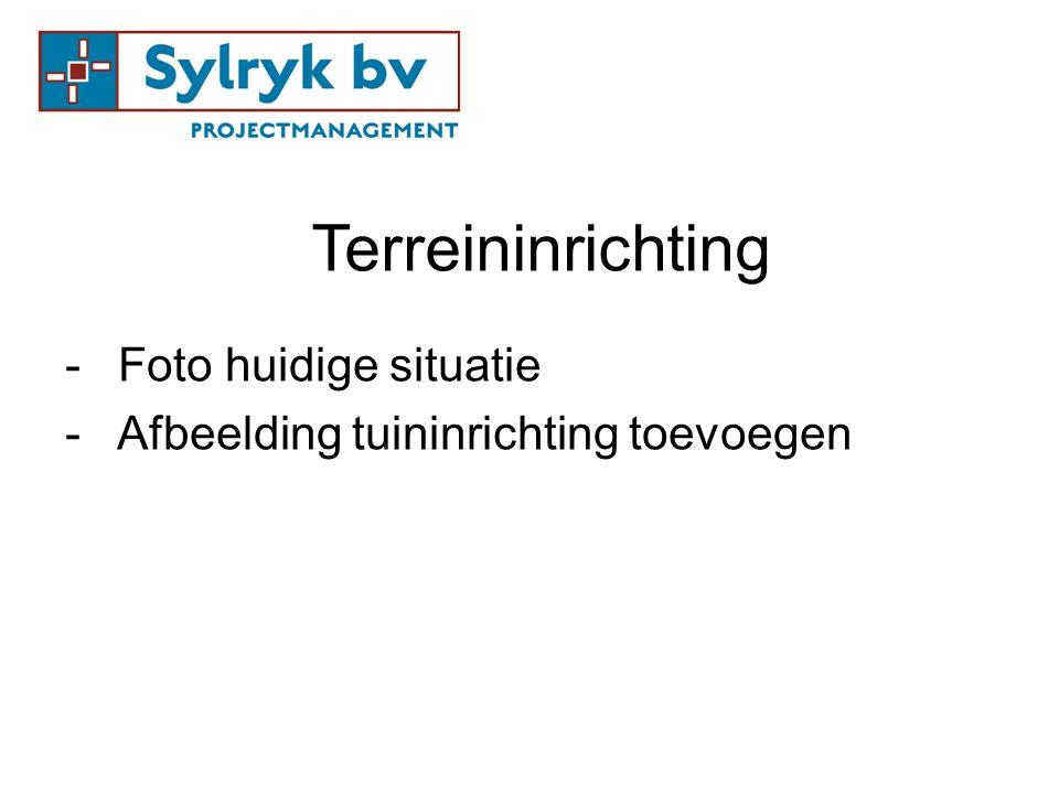 Terreininrichting -Foto huidige situatie - Afbeelding tuininrichting toevoegen