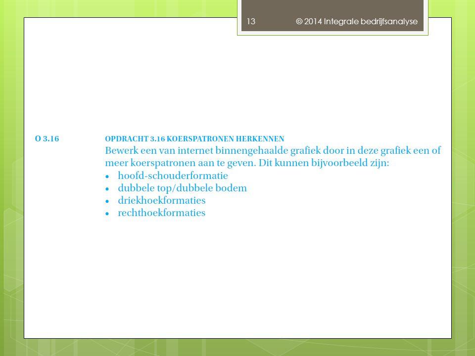 © 2014 Integrale bedrijfsanalyse 13
