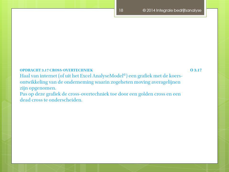 © 2014 Integrale bedrijfsanalyse 18