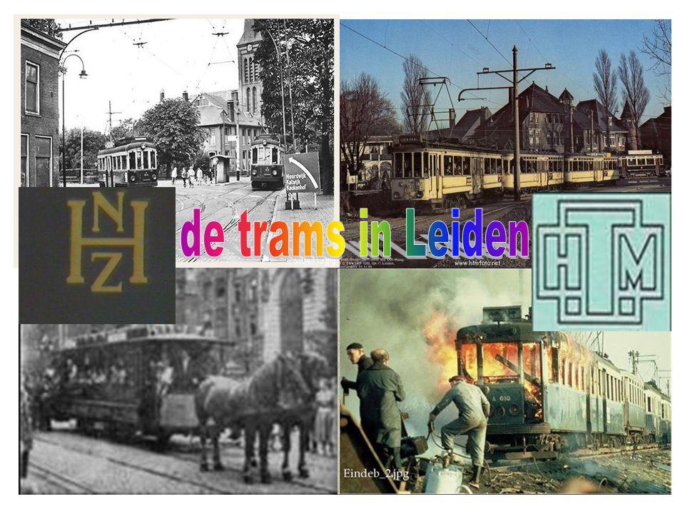 De logo's van de twee concurerende trammaatschappijen