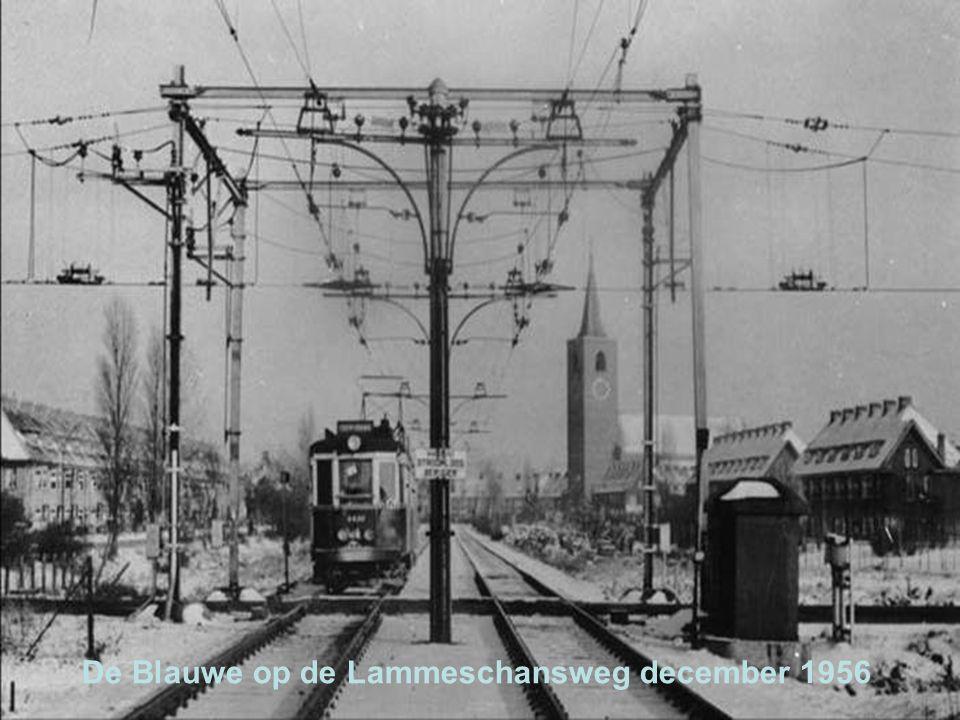 De Blauwe op de Lammeschansweg december 1956