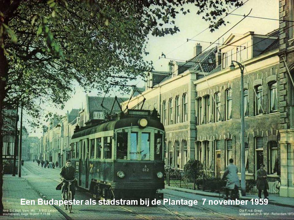 Een Budapester als stadstram bij de Plantage 7 november 1959