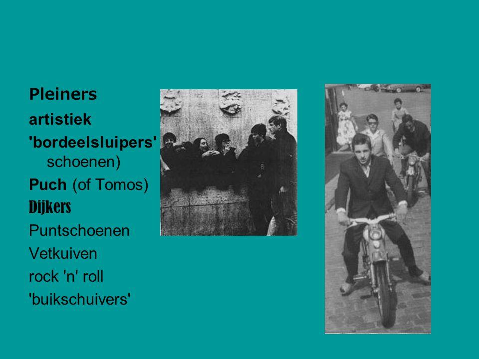 Pleiners artistiek 'bordeelsluipers' (suede schoenen) Puch (of Tomos) Dijkers Puntschoenen Vetkuiven rock 'n' roll 'buikschuivers'