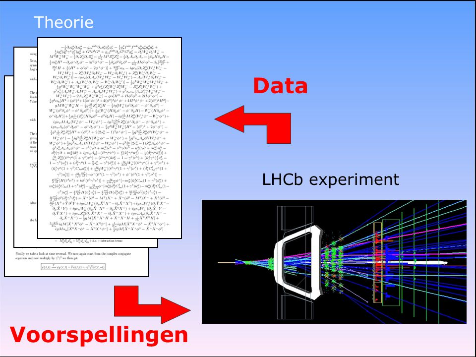 Theorie LHCb experiment Data Voorspellingen