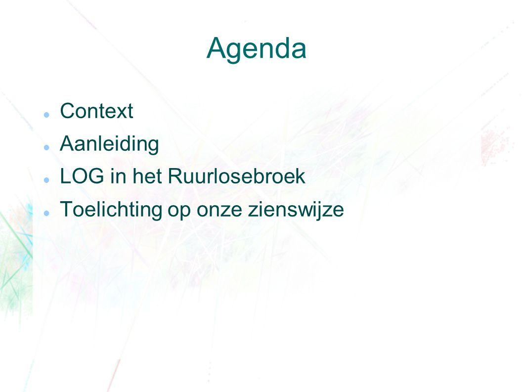 Agenda Context Aanleiding LOG in het Ruurlosebroek Toelichting op onze zienswijze