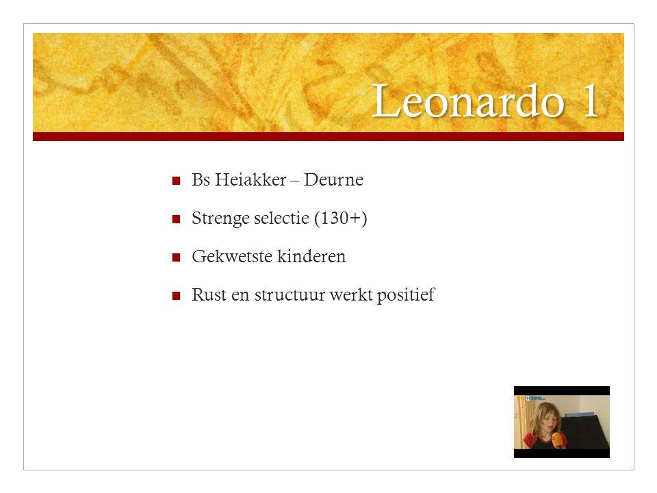 Leonardo 1 Bs Heiakker – Deurne Strenge selectie (130+) Gekwetste kinderen Rust en structuur werkt positief