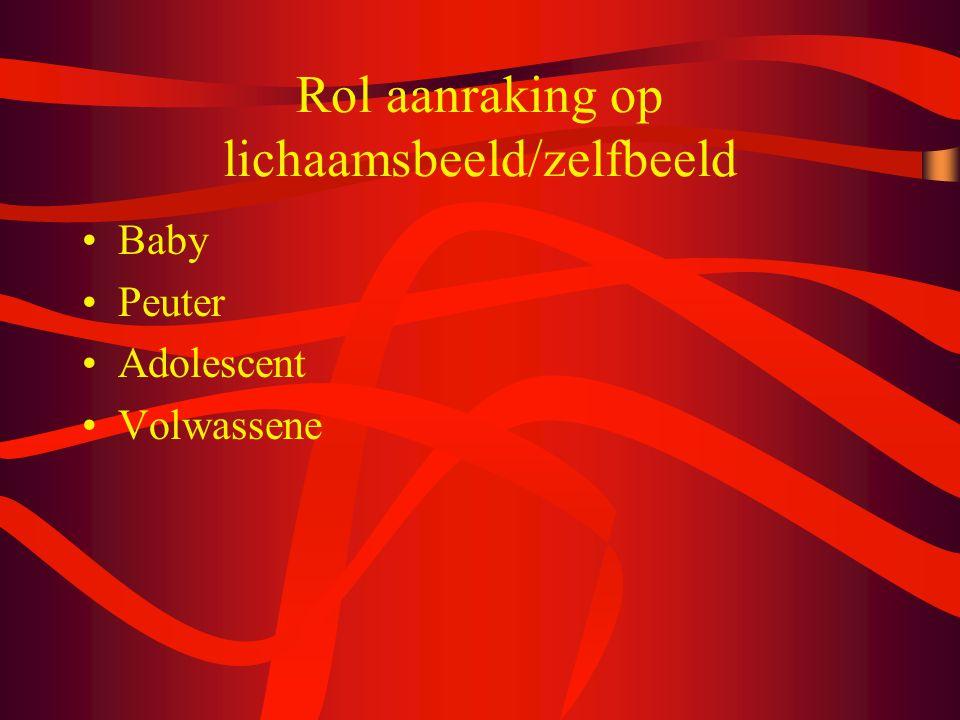 Rol aanraking op lichaamsbeeld/zelfbeeld Baby Peuter Adolescent Volwassene