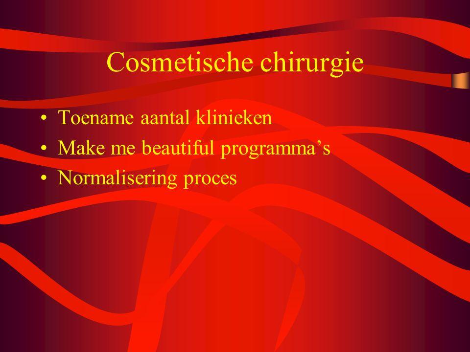 Cosmetische chirurgie Toename aantal klinieken Make me beautiful programma's Normalisering proces