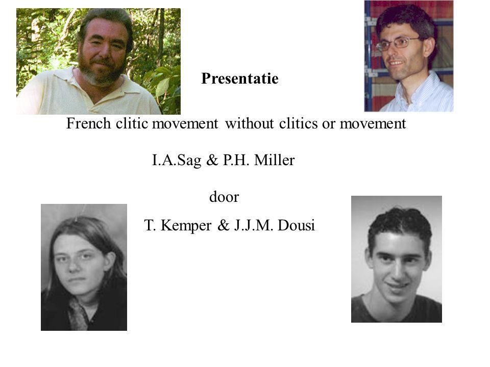 Inhoud Spoedcursus Franse Clitics Waarom Clitic movement zonder Clitics? HPSG implementatie