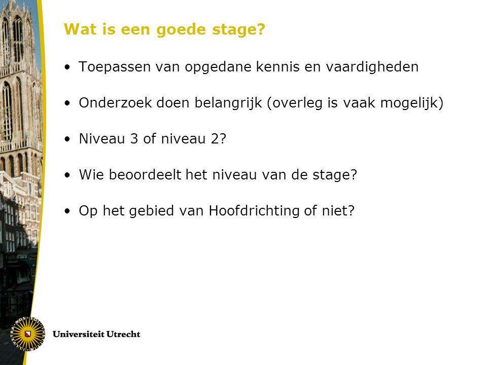 Wat is een goede stage.