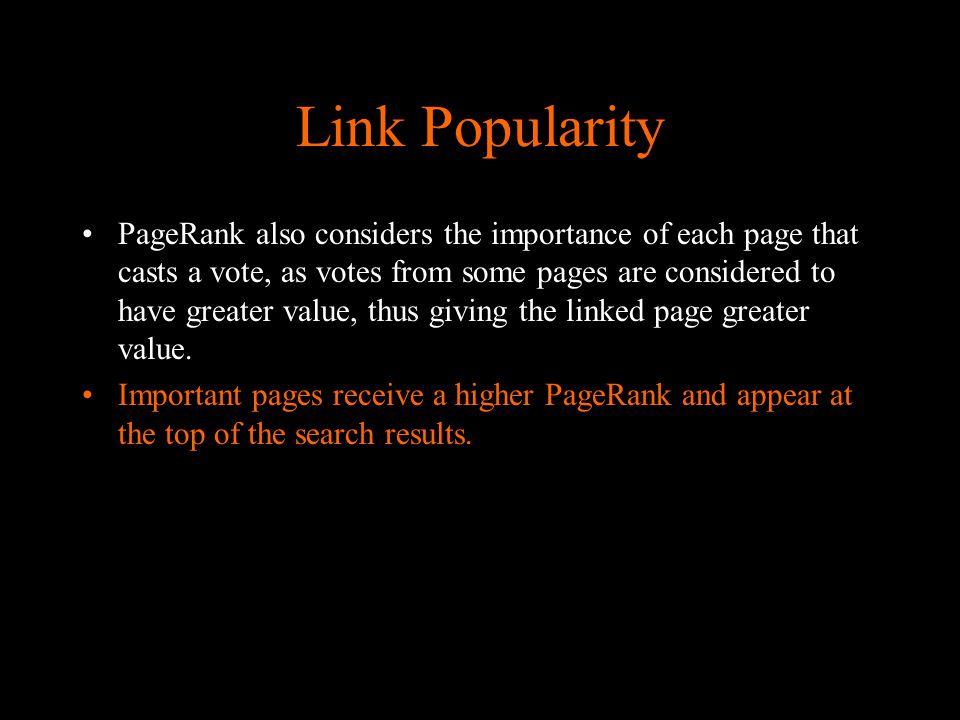 Link Popularity Via software of sites die je site aanmelden bij duizende (NIET goedscorende Onrelevante) Websites Gevolg: straf van Go(d)(ogle)