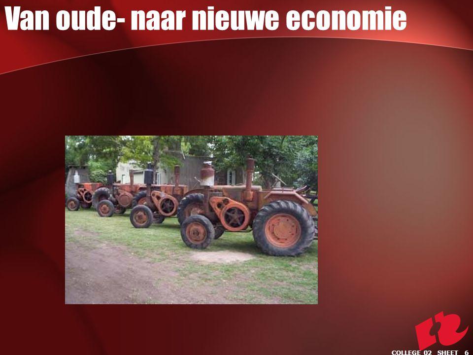 Van oude- naar nieuwe economie COLLEGE 02 SHEET 6