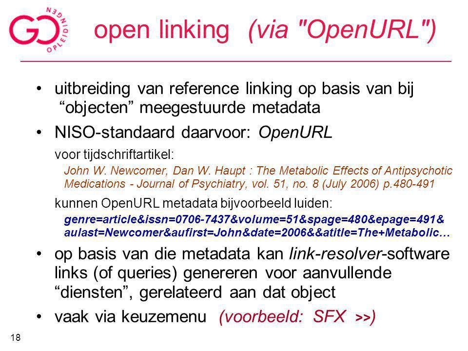 open linking (via
