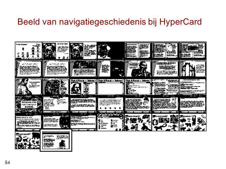 Beeld van navigatiegeschiedenis bij HyperCard 54