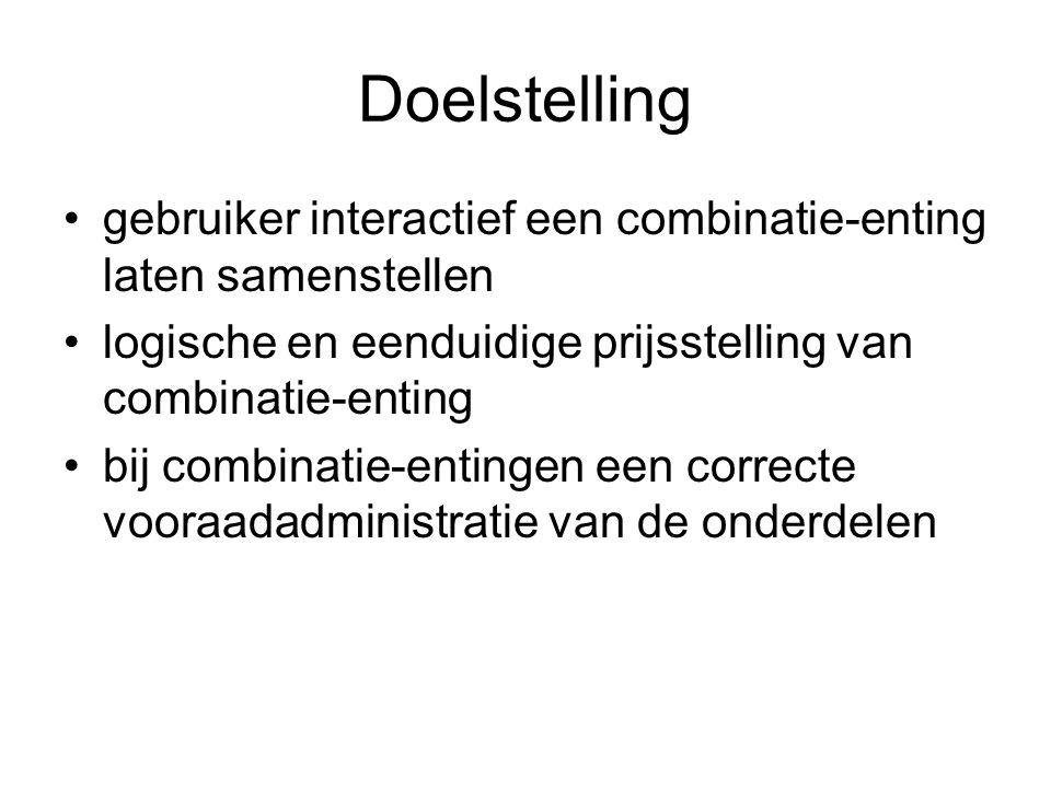 Doelstelling gebruiker interactief een combinatie-enting laten samenstellen logische en eenduidige prijsstelling van combinatie-enting bij combinatie-