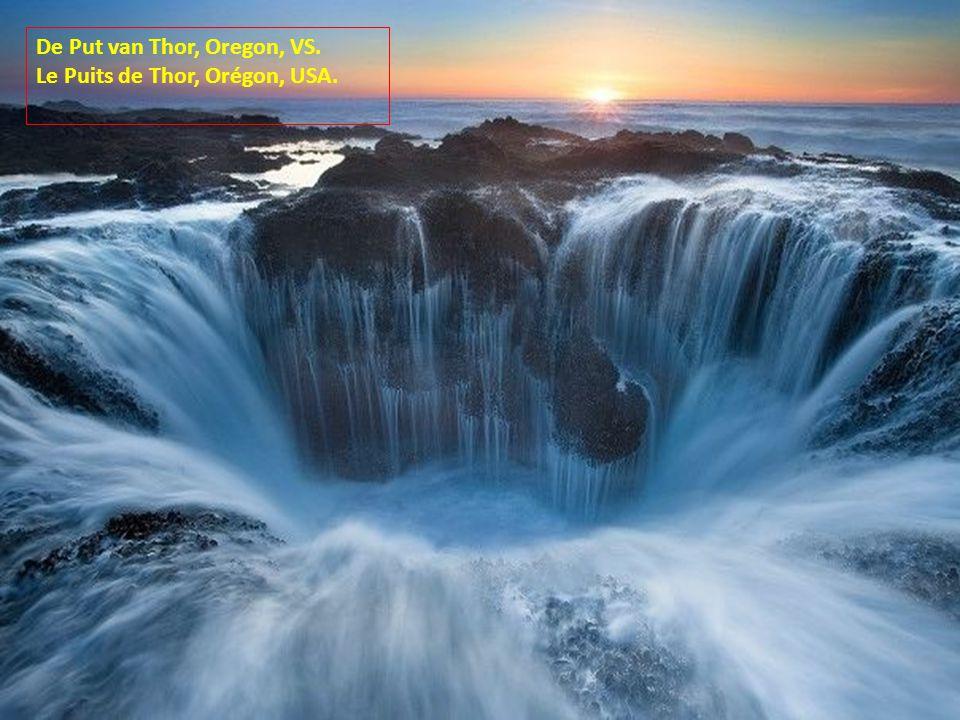 De Put van Thor, Oregon, VS. Le Puits de Thor, Orégon, USA.