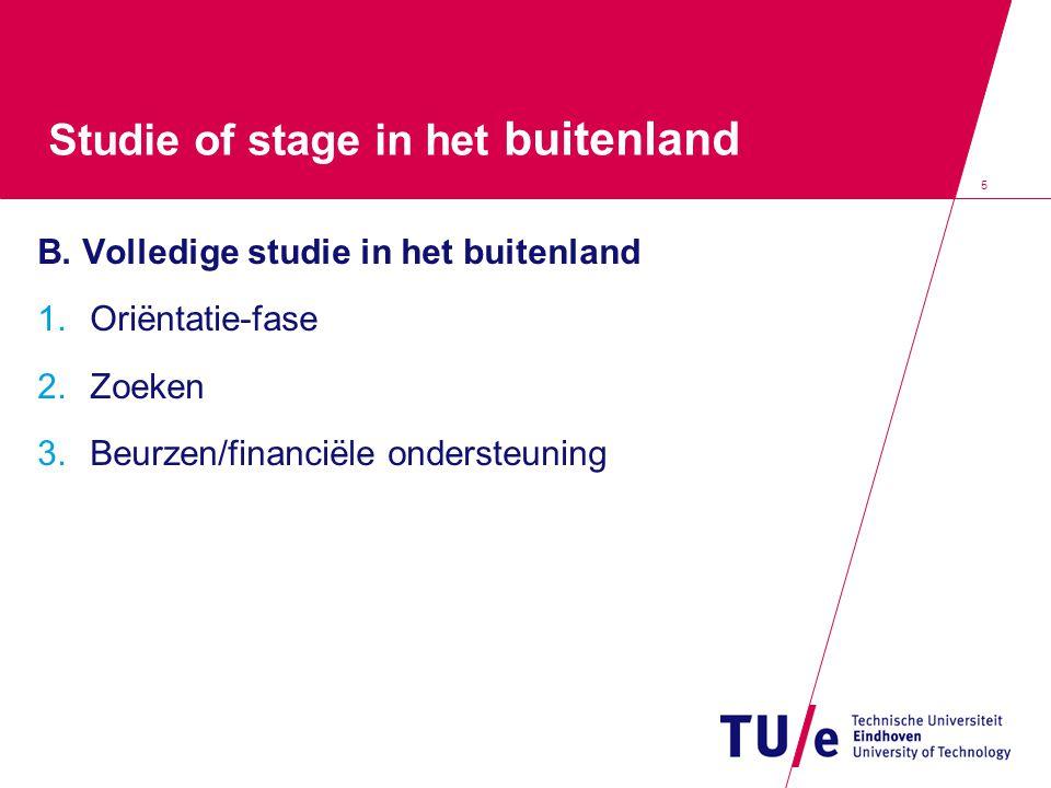 5 Studie of stage in het buitenland B.