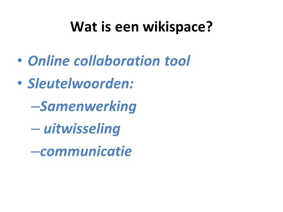 Wat is een wikispace.