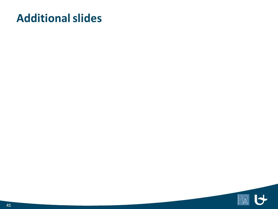Additional slides 41