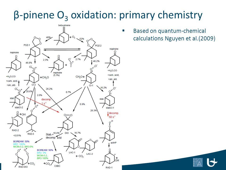 β-pinene O 3 oxidation: primary chemistry  Based on quantum-chemical calculations Nguyen et al.(2009) 47
