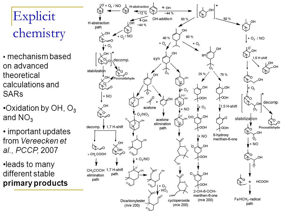 Next step: model reduction Currently BOREAM model contains about 10000 reactions and 2500 species Global models: chemical reactions consume large amount of CPU time Model reduction is needed:  At most a few hundred reactions  Less than 100 species Work in progress…