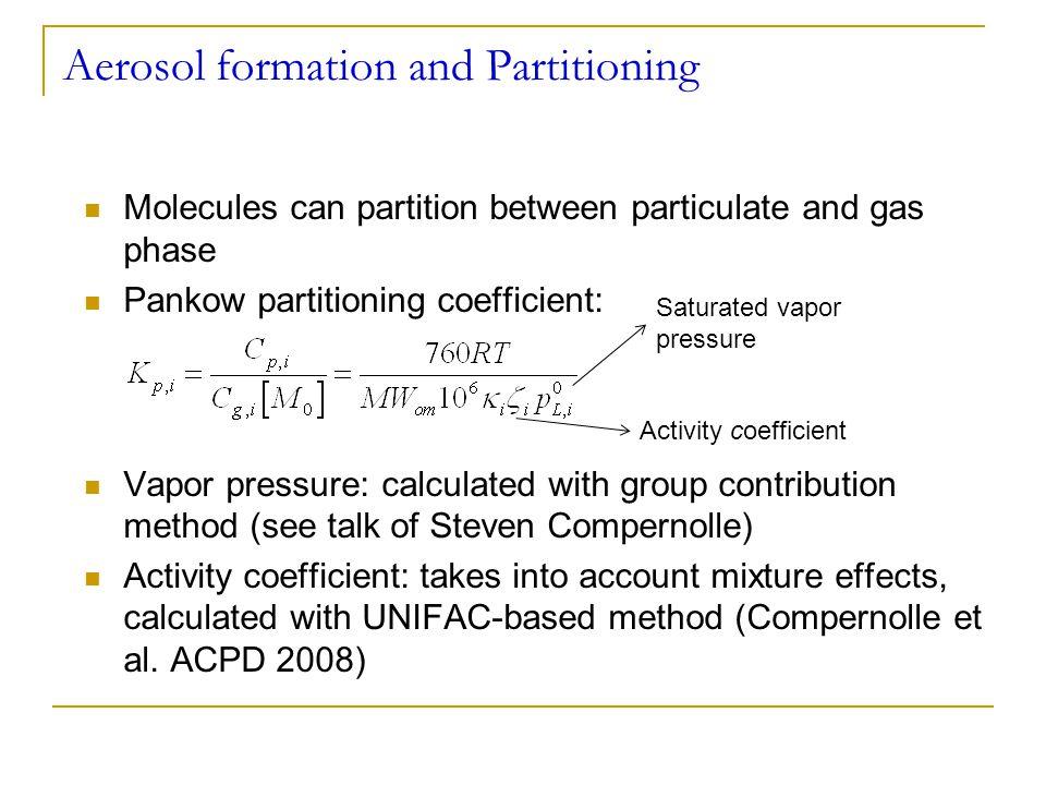 Oligomerization reactions: gas-phase reactions of Criegee intermediates Observed in several recent studies (Tobias & Ziemann 2001, Heaton et al.