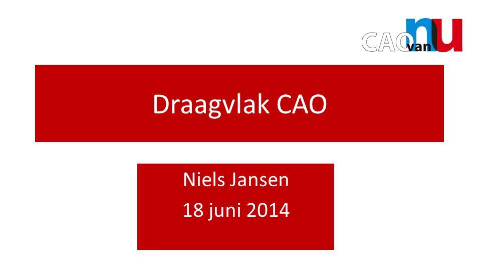 Draagvlak CAO Niels Jansen 18 juni 2014