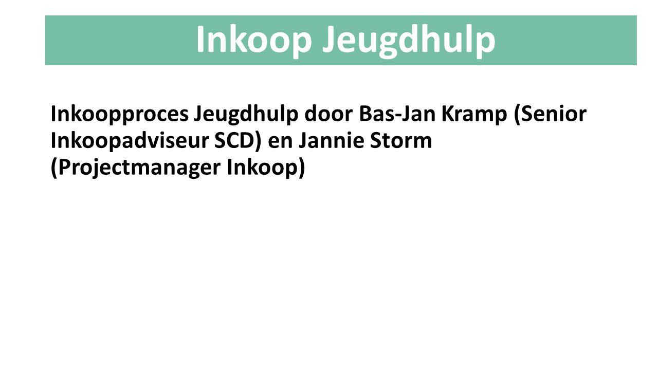 Inkoopproces Jeugdhulp door Bas-Jan Kramp (Senior Inkoopadviseur SCD) en Jannie Storm (Projectmanager Inkoop) Inkoop Jeugdhulp