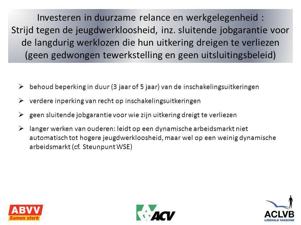 Investeren in duurzame relance en werkgelegenheid : Strijd tegen de jeugdwerkloosheid, inz.