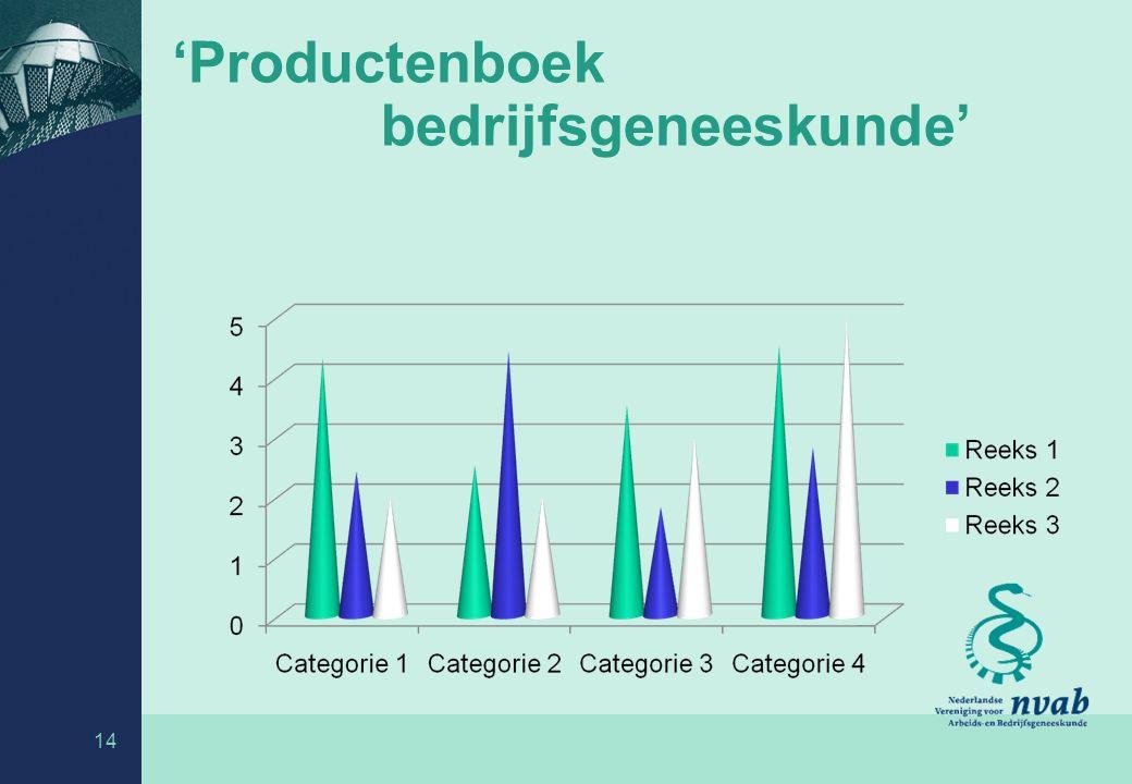 'Productenboek bedrijfsgeneeskunde' 14
