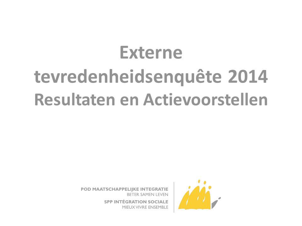 Externe tevredenheidsenquête 2014 Resultaten en Actievoorstellen