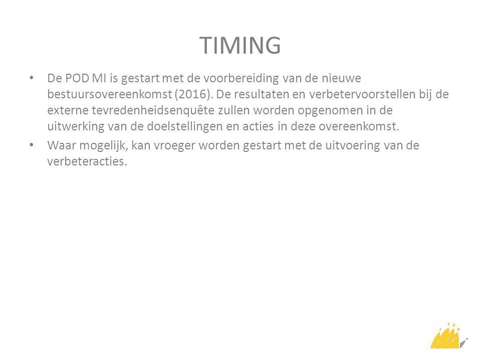 TIMING De POD MI is gestart met de voorbereiding van de nieuwe bestuursovereenkomst (2016).