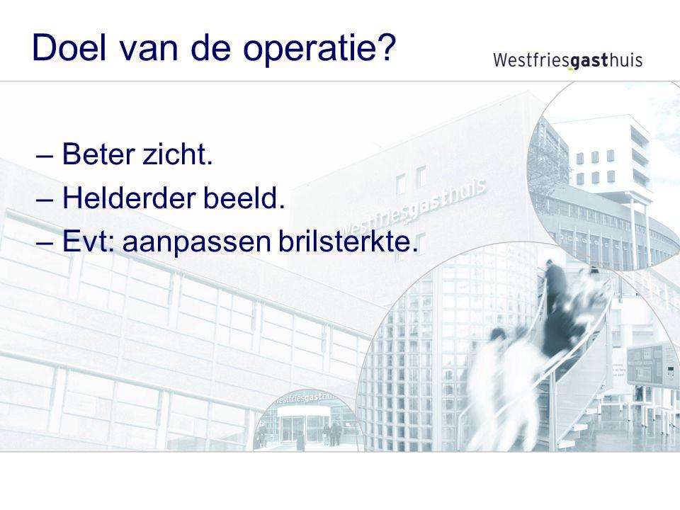 Vervoer naar huis Na de operatie kunt u niet zelfstandig naar huis. Zorgt u voor vervoer naar huis?