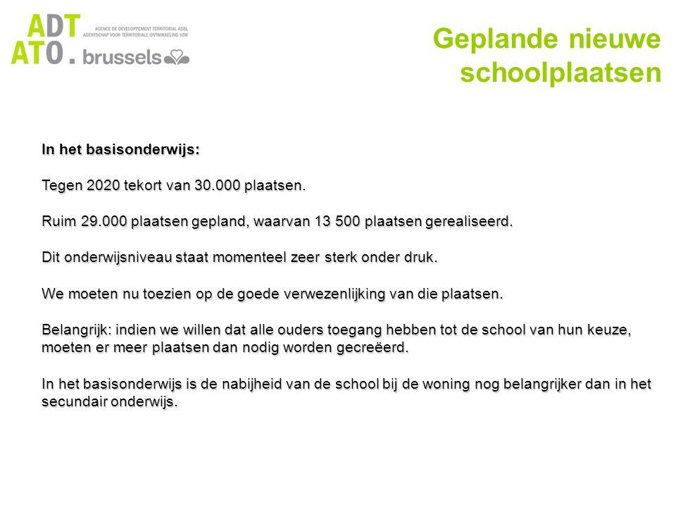 In het basisonderwijs: Tegen 2020 tekort van 30.000 plaatsen.