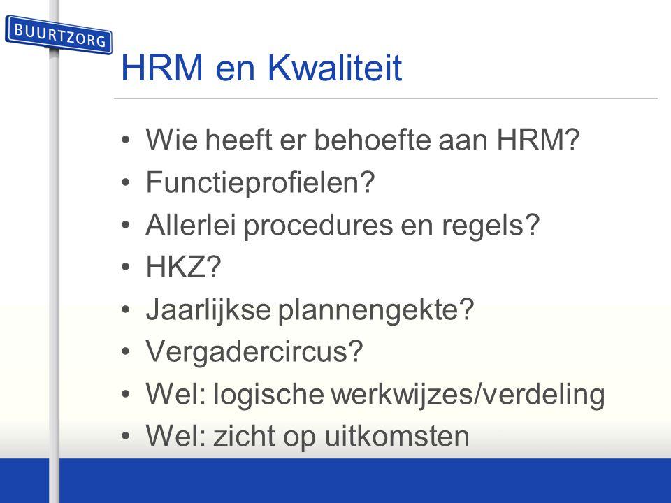HRM en Kwaliteit Wie heeft er behoefte aan HRM? Functieprofielen? Allerlei procedures en regels? HKZ? Jaarlijkse plannengekte? Vergadercircus? Wel: lo
