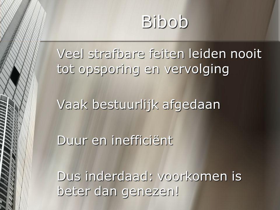 Bibob Geeft bij een vastgoedtransactie geen extra bevoegdheden maar wel extra informatie Welke informatie is relevant?