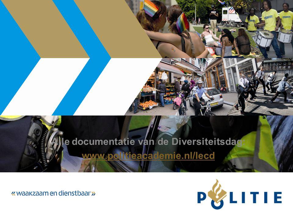 Alle documentatie van de Diversiteitsdag: www.politieacademie.nl/lecd