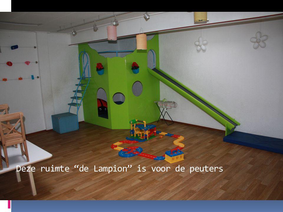 """Deze ruimte """"de Lampion"""" is voor de peuters"""