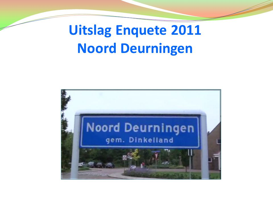 Uitslag Enquete 2011 Noord Deurningen