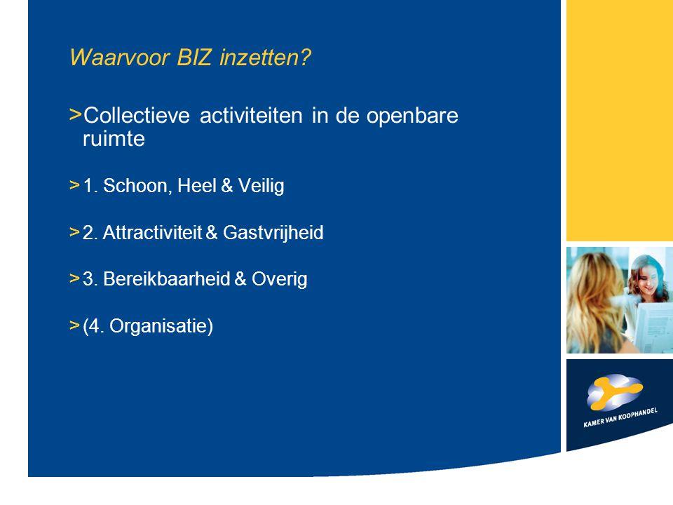 Waarvoor BIZ inzetten. > Collectieve activiteiten in de openbare ruimte > 1.