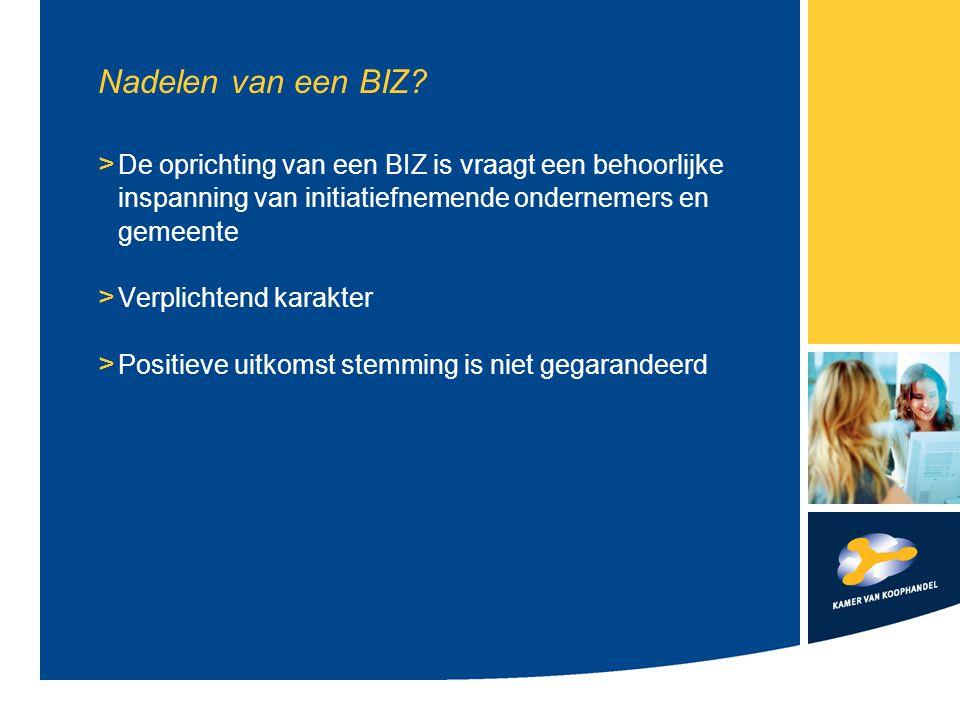 Hoe komt een BIZ tot stand.1. Initiatief ondernemers 2.