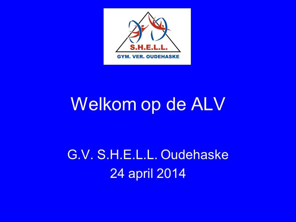 Welkom op de ALV G.V. S.H.E.L.L. Oudehaske 24 april 2014