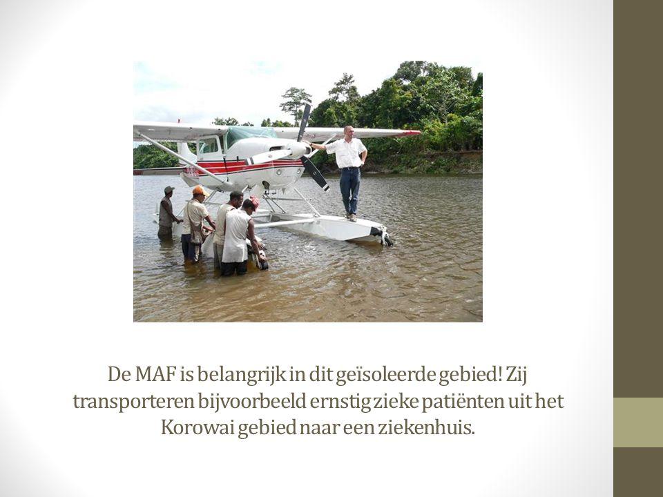 De MAF is belangrijk in dit geïsoleerde gebied! Zij transporteren bijvoorbeeld ernstig zieke patiënten uit het Korowai gebied naar een ziekenhuis.