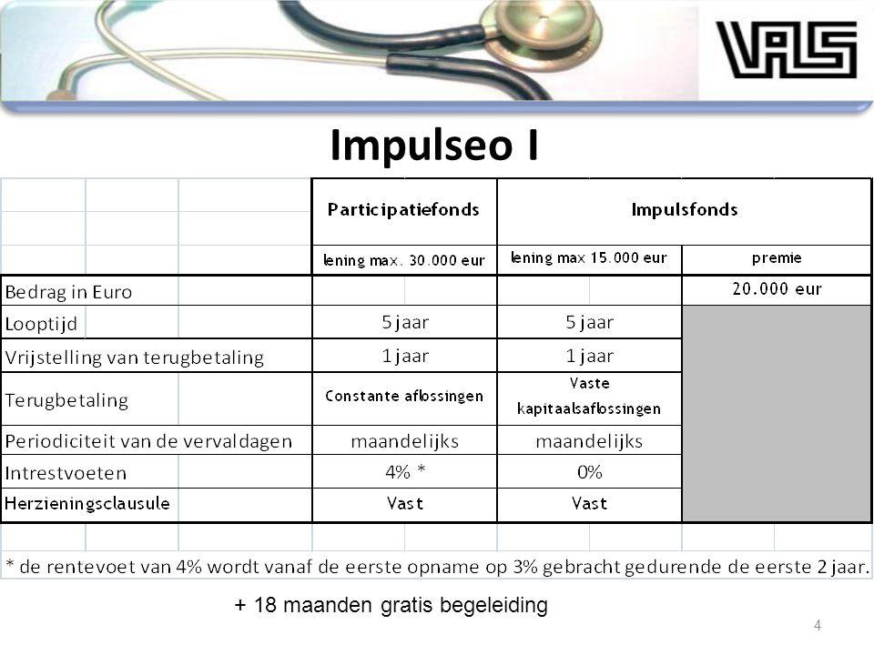15 Impulseo II : Stand van zaken Loonkost 2007Loonkost 2008 Brussel2328 groepering van 2 HA610 groepering van 3 HA44 groepering van meer dan 3 HA1314 Vlaanderen241307 groepering van 2 HA97132 groepering van 3 HA81100 groepering van meer dan 3 HA6375 Wallonië5162 groepering van 2 HA1318 groepering van 3 HA1116 groepering van meer dan 3 HA2728 Totaal aantal aanvragen315397