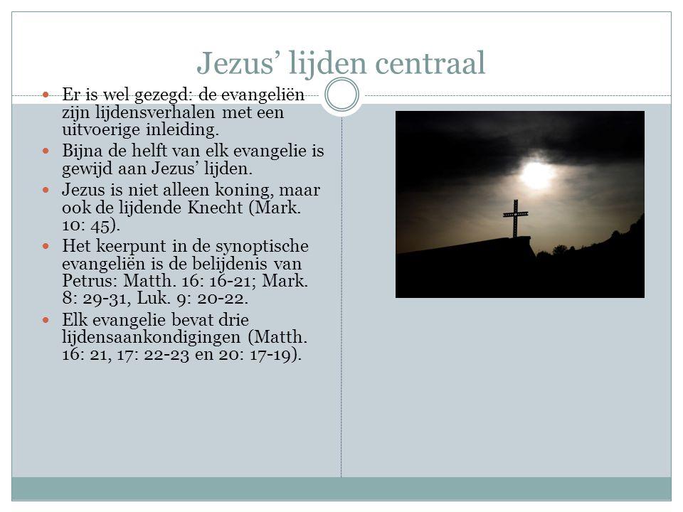Ook in het Johannesevangelie neemt Jezus' lijden een grote plaats in.