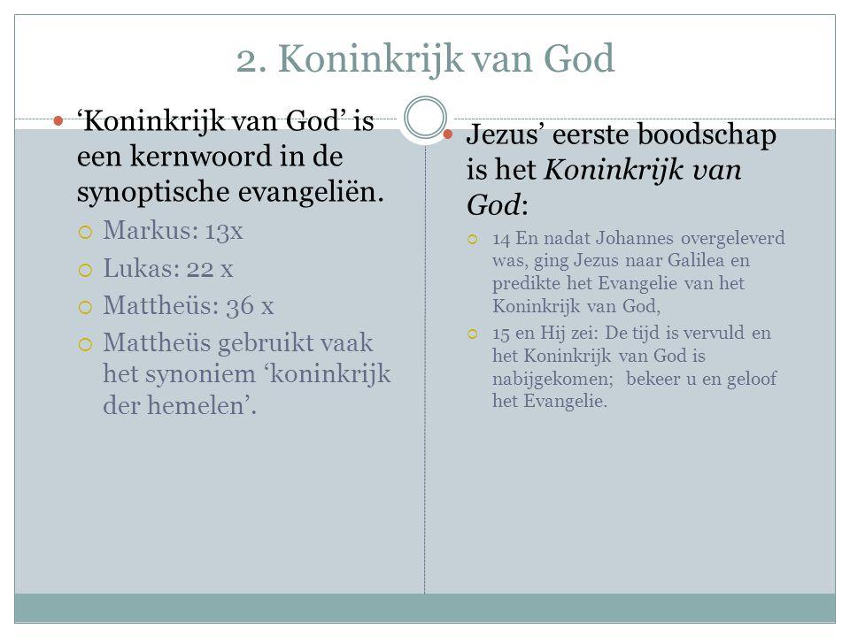 Koninkrijk van God (2) Wat is het Koninkrijk van God.