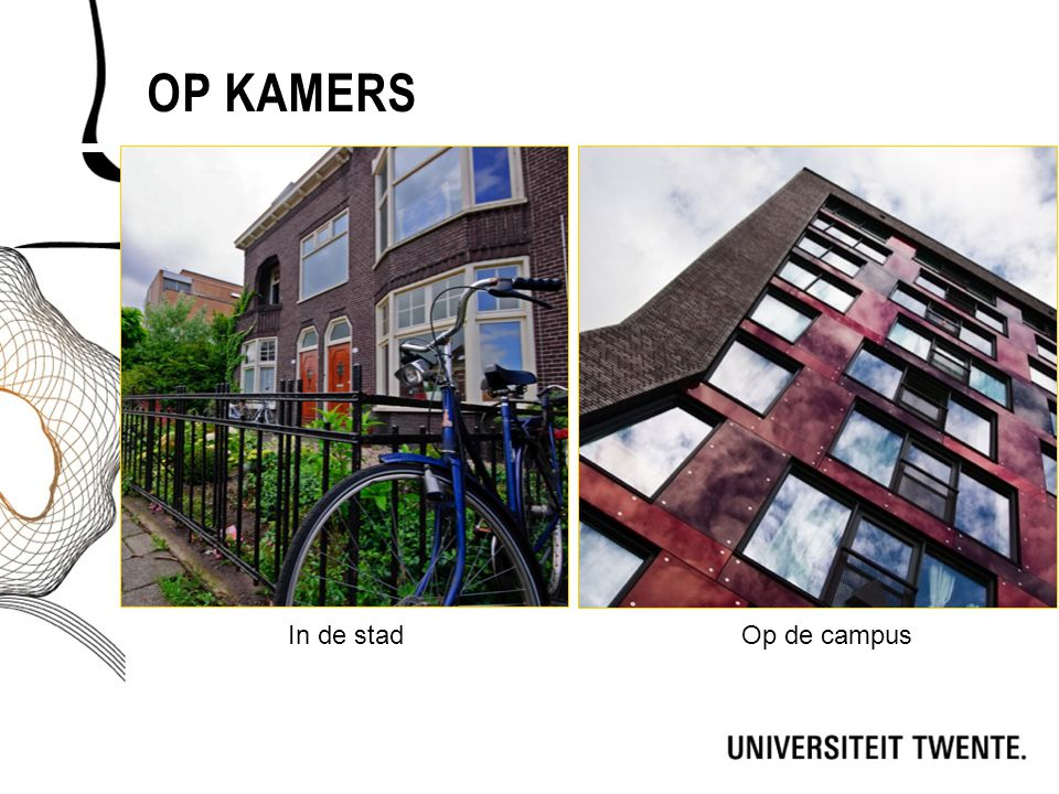 OP KAMERS Op de campusIn de stad